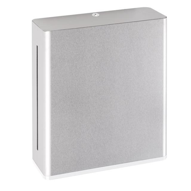 Hewi Serie 805 Papierhandtuchspender edelstahl gebürstet/signalweiß