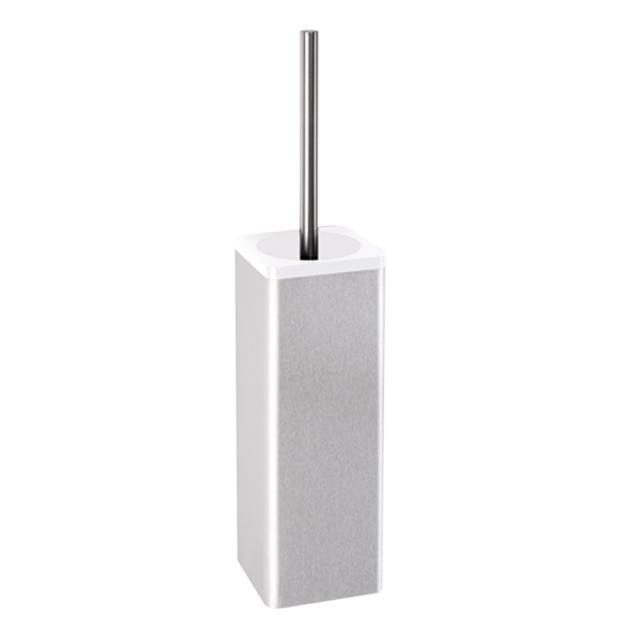 Hewi Serie 805 WC-Bürstengarnitur edelstahl gebürstet/signalweiß