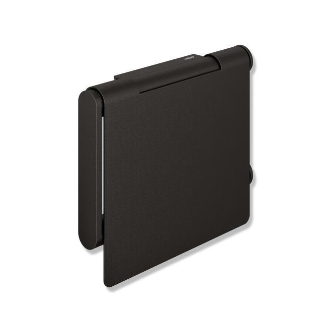 Hewi System 900 WC-Papierhalter mit Deckel schwarz matt