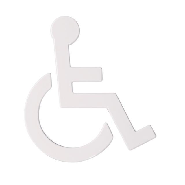 Hewi Universal Symbol Rollstuhl signalweiß
