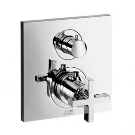 AXOR Citterio Thermostatbatterie mit Absperrventil mit Kreuzgriff