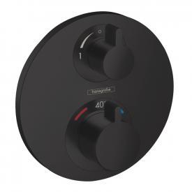 Hansgrohe Ecostat S Thermostat Unterputz, für 2 Verbraucher schwarz matt