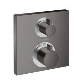 Hansgrohe Ecostat Square Thermostat Unterputz, für 2 Verbraucher schwarz chrom gebürstet