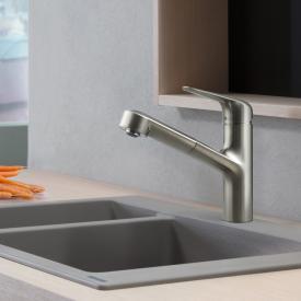 Hansgrohe Focus M42 Einhebel-Küchenmischer 150, mit Ausziehauslauf und sBox edelstahl gebürstet