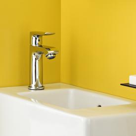 Hansgrohe Metris Einhebel-Waschtischmischer 100, für Handwaschbecken mit Ablaufgarnitur