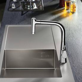 Hansgrohe Metris M71 Einhebel-Küchenmischer 220 mit Ausziehbrause und sBox chrom