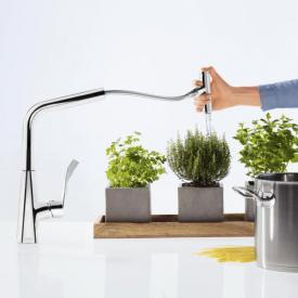 Hansgrohe Metris Select M71 Einhebel-Küchenmischer 240, mit Ausziehauslauf und sBox chrom