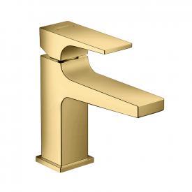 Hansgrohe Metropol Einhebel-Waschtischmischer 100, mit Zungengriff, mit Ablaufgarnitur gold, Ausladung: 127 mm