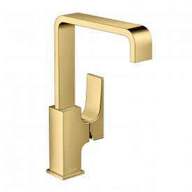 Hansgrohe Metropol Einhebel-Waschtischmischer 230, mit Zungengriff, mit Ablaufgarnitur gold