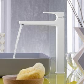 Hansgrohe Metropol Einhebel-Waschtischmischer 260, mit Zungengriff, mit Ablaufgarnitur weiß matt