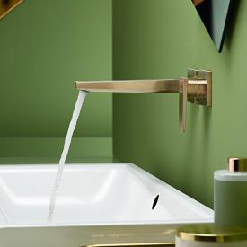 Hansgrohe Metropol Einhebel-Waschtischmischer für Wandmontage, mit Zungengriff bronze gebürstet, Ausladung: 225 mm
