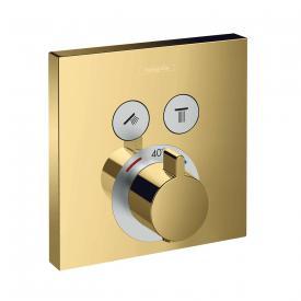 Hansgrohe ShowerSelect Thermostat Unterputz für 2 Verbraucher gold
