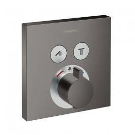 Hansgrohe ShowerSelect Thermostat Unterputz für 2 Verbraucher schwarz chrom gebürstet