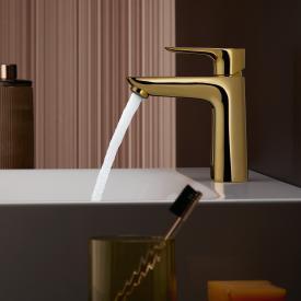 Hansgrohe Talis E Einhebel-Waschtischmischer 110 CoolStart gold, mit Ablaufgarnitur