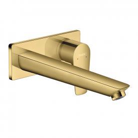 Hansgrohe Talis E Einhebel-Waschtischmischer für Wandmontage gold, Ausladung: 225 mm