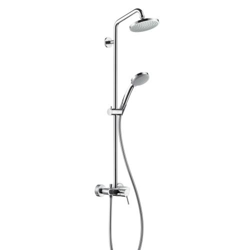 hansgrohe croma 100 1jet showerpipe mit einhebelmischer. Black Bedroom Furniture Sets. Home Design Ideas