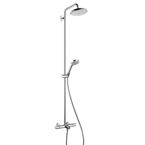 hansgrohe croma 220 air 1jet showerpipe wanne 27223000 reuter. Black Bedroom Furniture Sets. Home Design Ideas