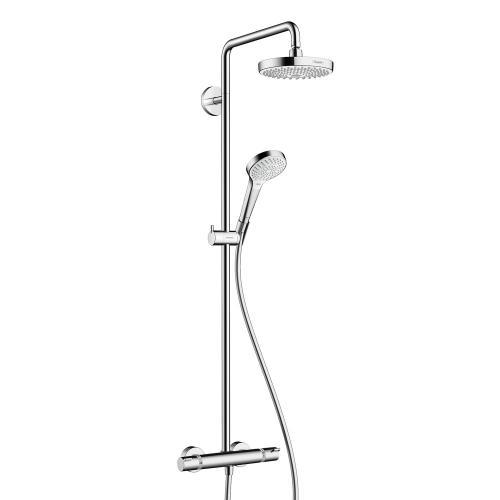hansgrohe croma select s 180 2jet showerpipe 27253400 reuter. Black Bedroom Furniture Sets. Home Design Ideas