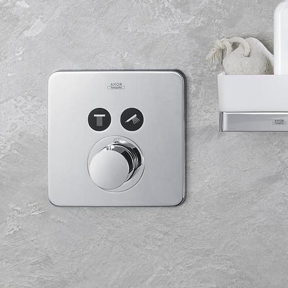 AXOR ShowerSelect Soft Cube Thermostat Unterputz für 2 Verbraucher chrom