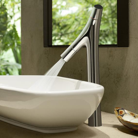 AXOR Starck Organic Zweigriff-Waschtischmischer 240, für Waschschüsseln mit Ablaufgarnitur, chrom
