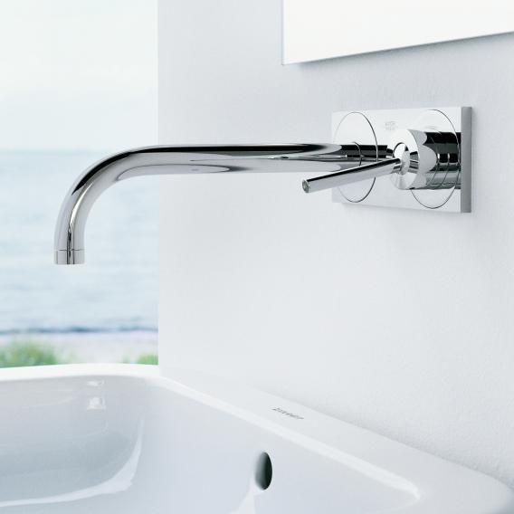 AXOR Uno Einhebel-Waschtischmischer mit Platte für Wandmontage Ausladung: 225 mm, chrom