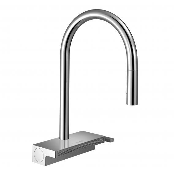 Hansgrohe Aquno Select M81 Einhebel-Küchenmischer mit Ausziehbrause chrom
