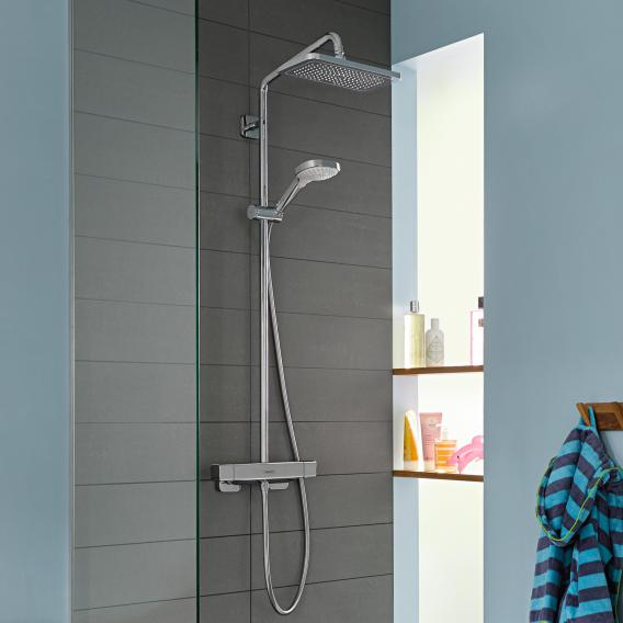 Hansgrohe Croma E 1jet Showerpipe mit Thermostat