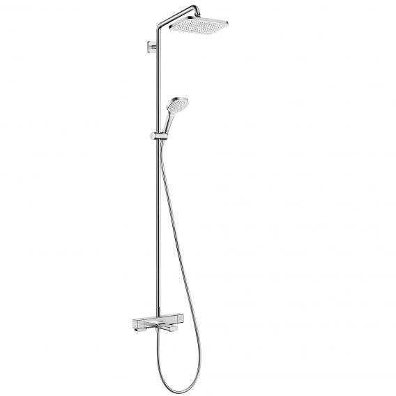 Hansgrohe Croma E 1jet Showerpipe mit Wannenthermostat