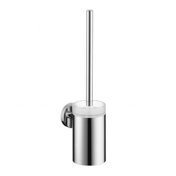 Hansgrohe Logis WC-Bürste mit Behälter aus Glas chrom