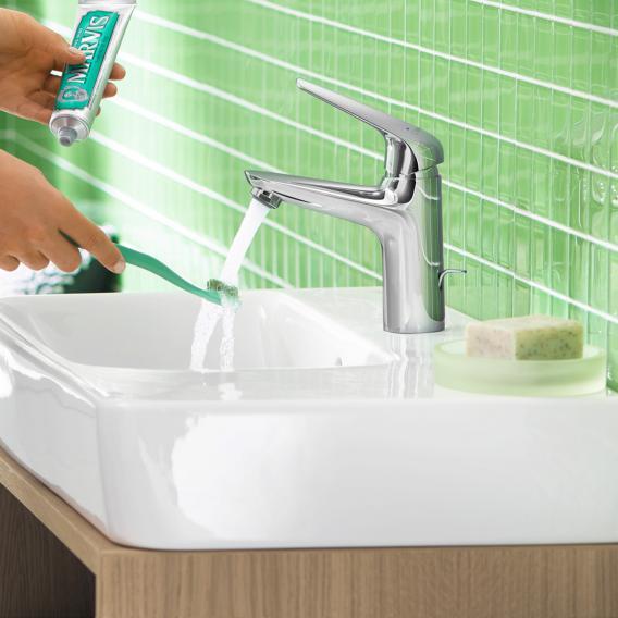 Hansgrohe Novus Einhebel-Waschtischmischer 100 für offene Warmwasserbereiter, mit Ablaufgarnitur
