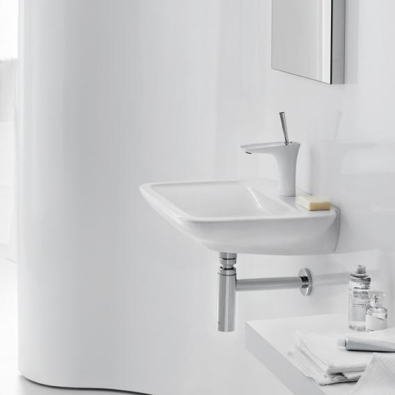 Hansgrohe PuraVida Einhebel-Waschtischmischer 110 mit Push-Open-Ablaufgarnitur, weiß/chrom