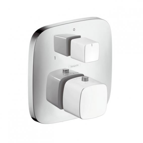 Hansgrohe PuraVida Thermostat Unterputz mit Ab-/Umstellventil weiß/chrom