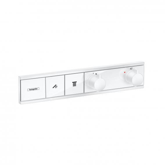 Hansgrohe RainSelect Thermostat für 2 Verbraucher, Unterputz weiß matt