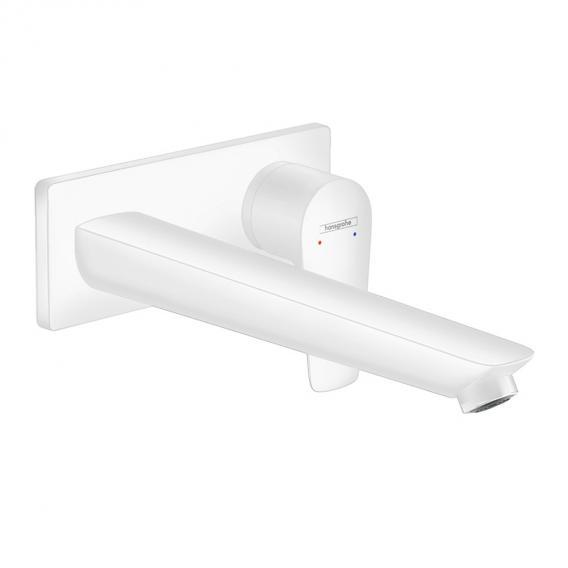 Hansgrohe Talis E Einhebel-Waschtischmischer für Wandmontage weiß matt, Ausladung: 225 mm