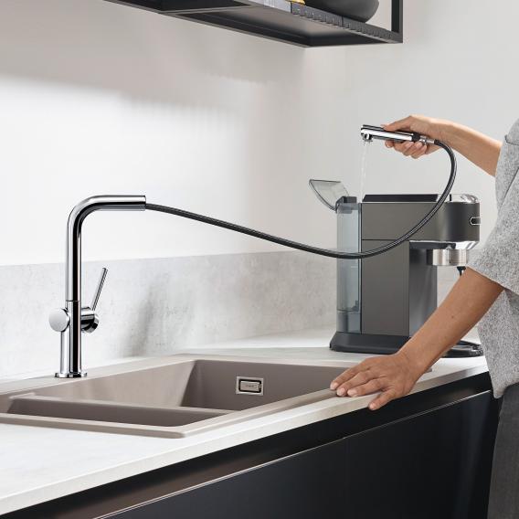 Hansgrohe Talis M54 Einhebel-Küchenmischer mit Ausziehauslauf mit sBox chrom