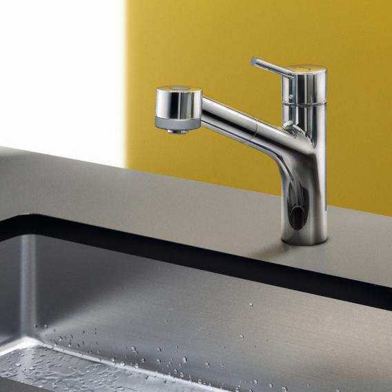 Hansgrohe Talis S Einhebel-Küchenarmatur mit Ausziehbrause chrom