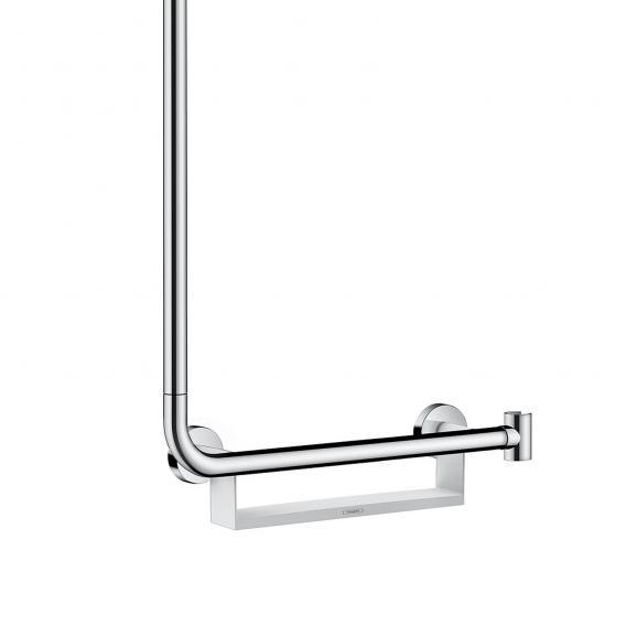 Hansgrohe Unica Comfort Brausestange, 1,10 m, Haltegriff rechts weiß/chrom