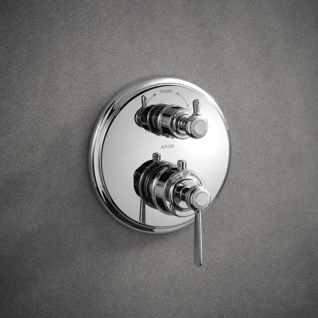 AXOR Montreux Thermostatbatterie mit Ab-/Umstellventil mit Hebelgriff, Unterputz chrom