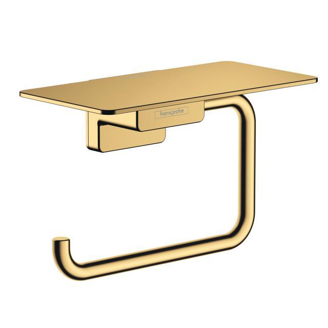 Hansgrohe AddStoris Toilettenpapierhalter mit Ablage gold