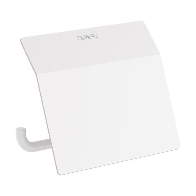 Hansgrohe AddStoris Toilettenpapierhalter mit Deckel weiß matt
