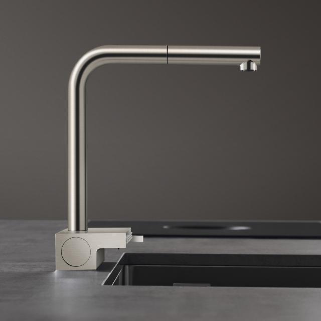 Hansgrohe Aquno Select M81 Einhebel-Küchenmischer mit Ausziehauslauf und sBox edelstahl gebürstet