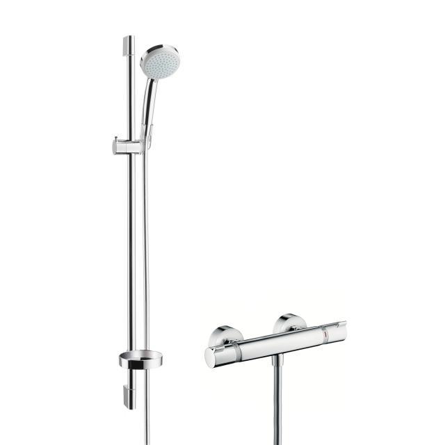 Hansgrohe Croma 100 Vario / Ecostat Comfort Combi mit EcoSmart, Höhe: 900 mm
