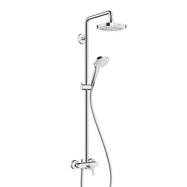Hansgrohe Croma Select E 180 2jet Showerpipe, mit Einhebelmischer