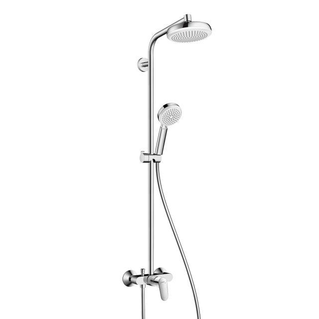 Hansgrohe Crometta 160 1jet Showerpipe, mit Einhebelmischer