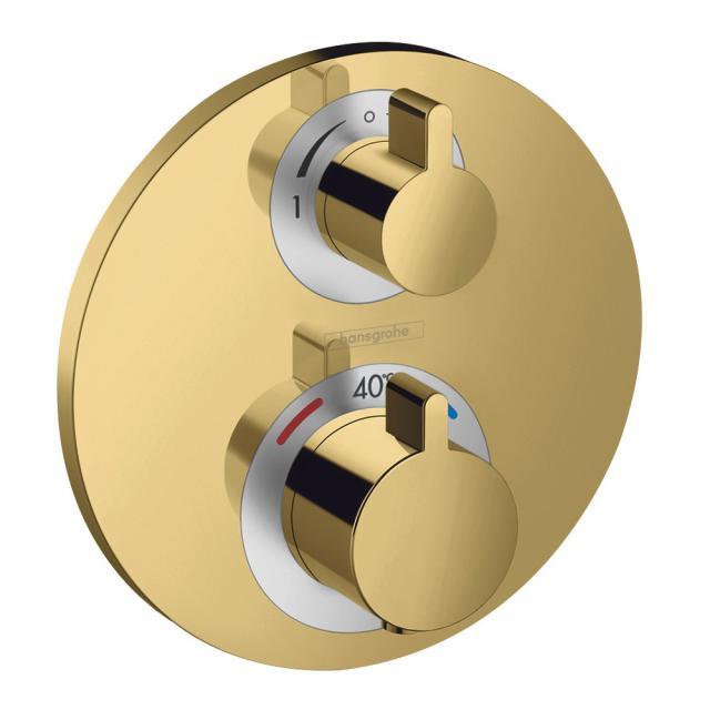 Hansgrohe Ecostat S Thermostat Unterputz, für 2 Verbraucher gold