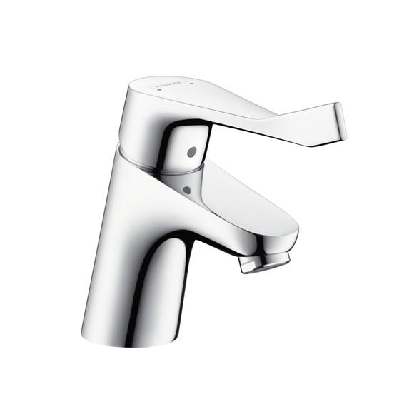 Hansgrohe Focus Care Einhebel-Waschtischmischer 70 mit etxra langem Griff mit Ablaufgarnitur