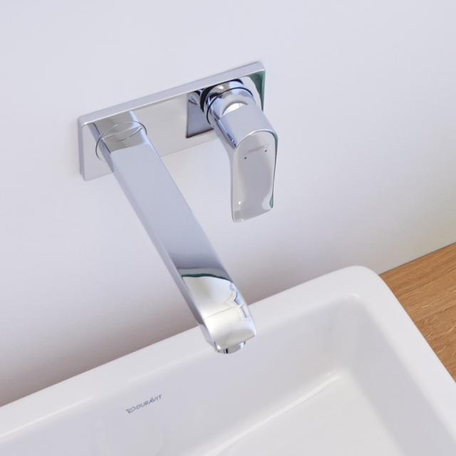 Hansgrohe Metris Einhebel-Waschtischmischer für Wandmontage Ausladung: 225 mm