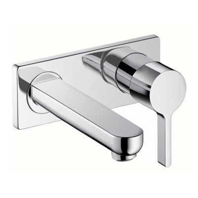 Hansgrohe Metris S Einhebel-Waschtischmischer für Wandmontage Ausladung: 225 mm