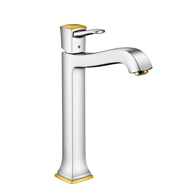 Hansgrohe Metropol Classic Einhebel-Waschtischmischer 260, für Waschschüsseln mit Ablaufgarnitur, chrom/gold