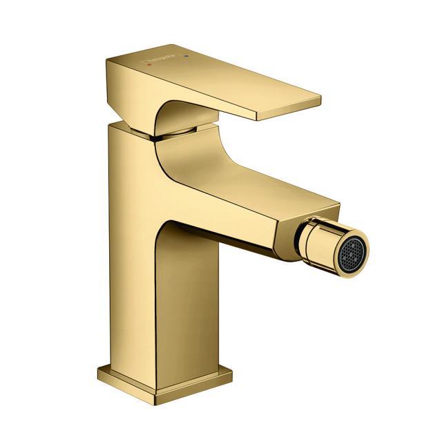 Hansgrohe Metropol Einhebel-Bidetmischer, mit Zungengriff, mit Ablaufgarnitur gold